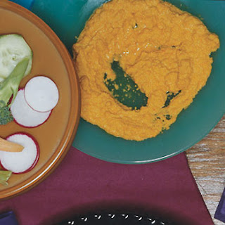 Ginger Carrot Dip with Crudites.