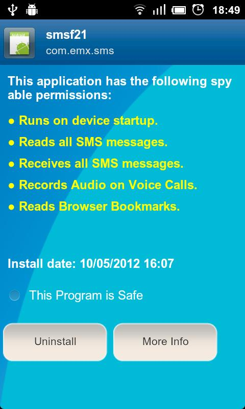 Anti Spy Mobile Free - screenshot
