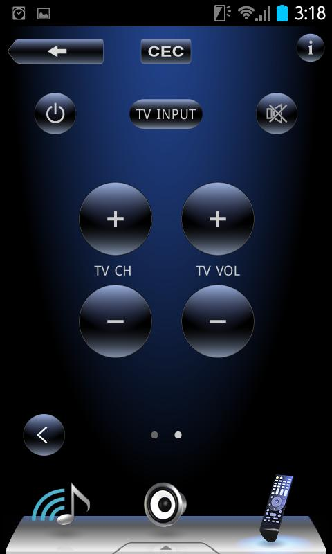 TEAC AVR Remote - screenshot