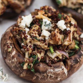 Chicken & Blue Cheese-Stuffed Portobellos