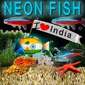 Bubbling Neon India Fish HD logo