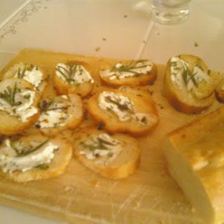 Rosemary & Goat Cheese Crostini.