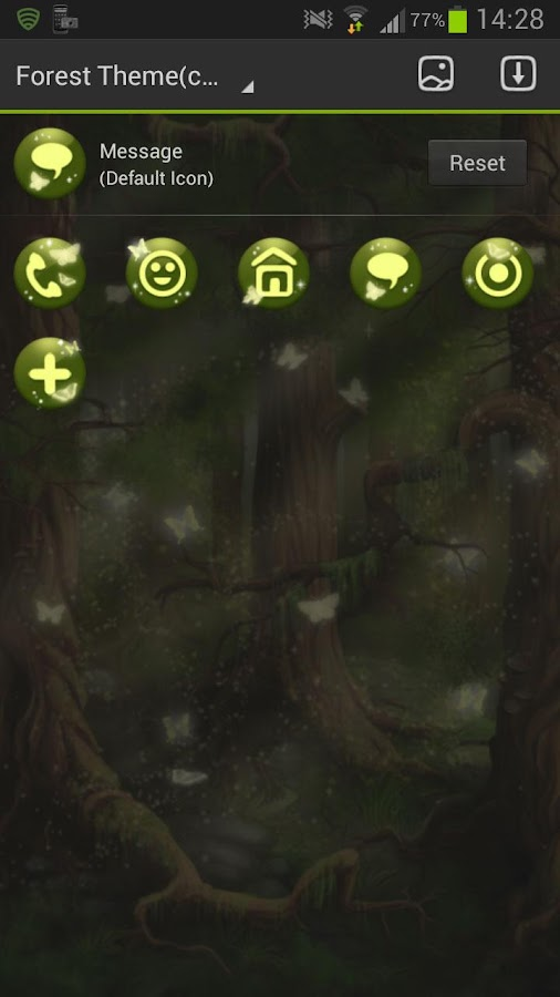 GO Launcher EX Theme forest- screenshot