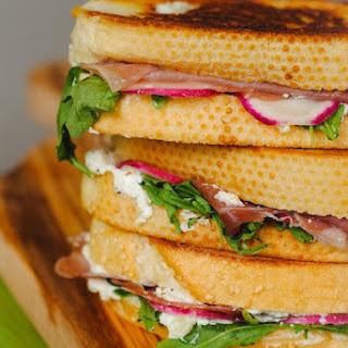 Prosciutto, Chevre & Radish Toasted Sandwich