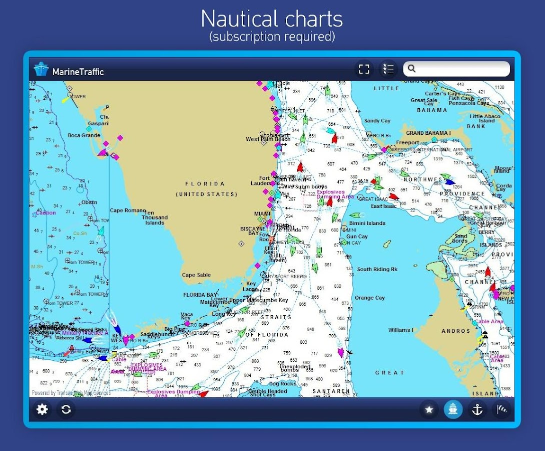 MarineTraffic ship positions - screenshot
