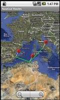 Screenshot of Nautical Routes