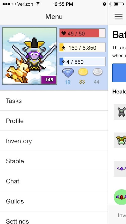 HabitRPG- screenshot