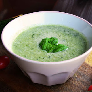 Zucchini Parmesan Basil Soup