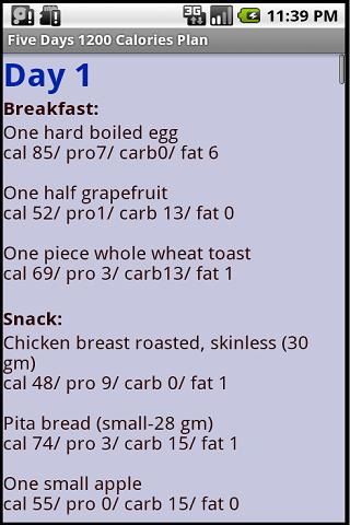 1200 and 1500 Calories Diets- screenshot