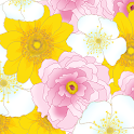 [Floral Illust] Flower Atom icon