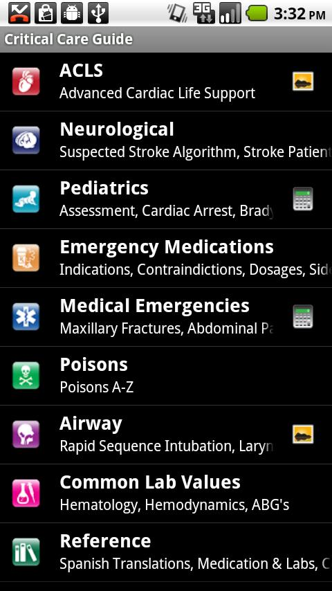 Critical Care ACLS Guide- screenshot