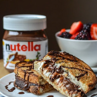 Hot Baked Nutella & Cream Cheese Sandwich.