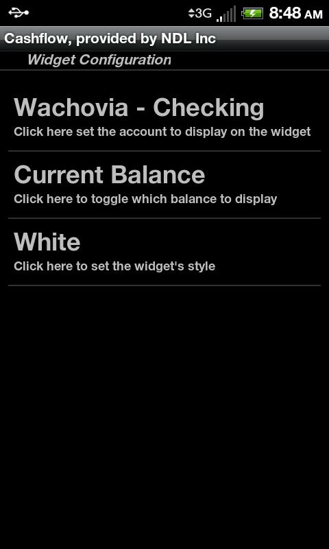 Cashflow- screenshot