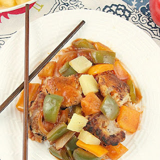 Sweet and Sour Pork {Low Calorie, No Sugar Added}.