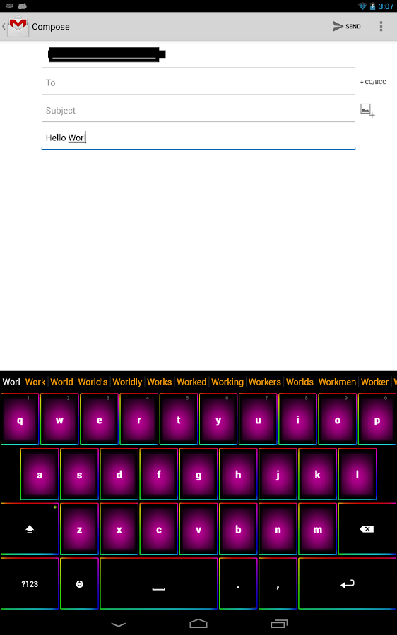 Rainbow Keyboard - screenshot