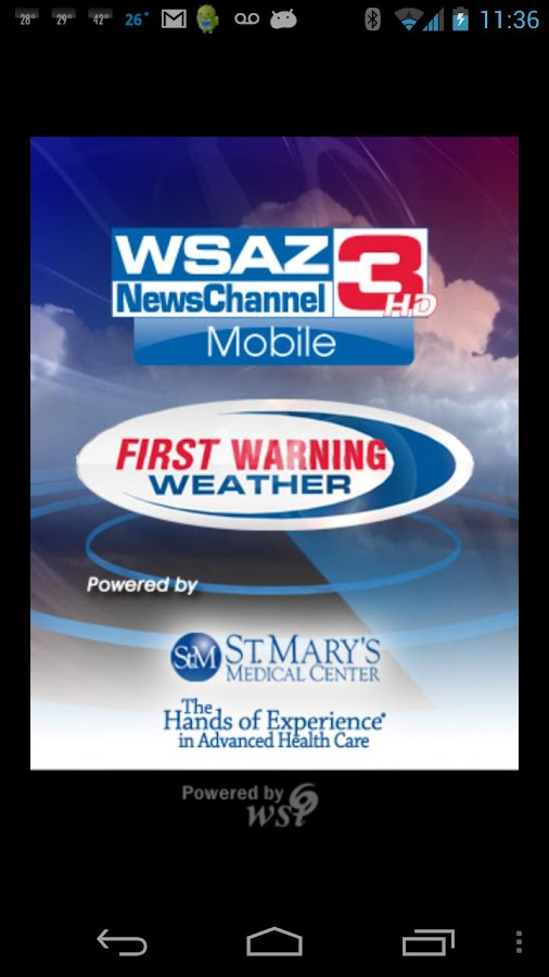 WSAZ Weather - screenshot