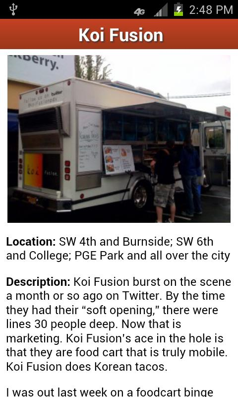 Food Carts Portland - screenshot