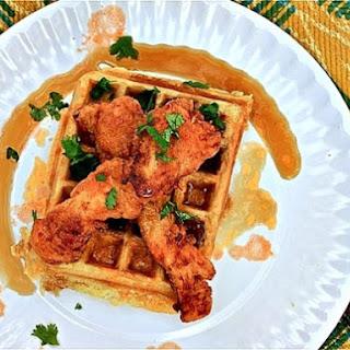 Savory-Sweet Buffalo Chicken and Waffles.
