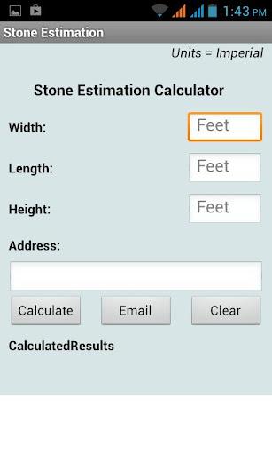 Stone Estimation Calculator