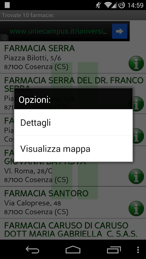 Cerca Farmacia - screenshot