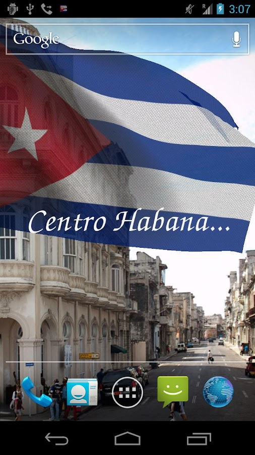3D Cuba Flag Live Wallpaper- screenshot