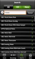 Screenshot of Optik TV™ Remote record