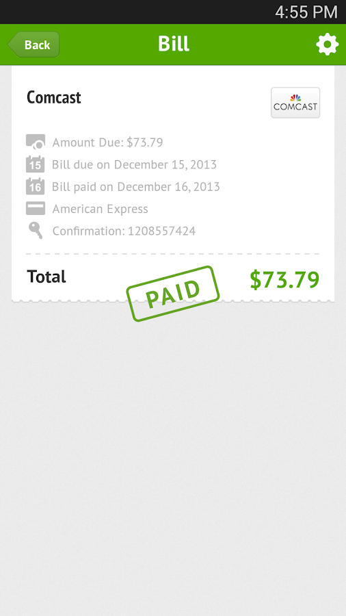 Mobilligy Pay Bills For Free Screenshot