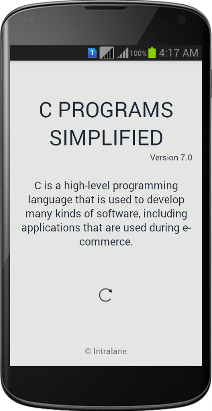 C PROGRAMMING SIMPLIFIED- screenshot