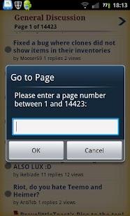 League of Legends Forums - screenshot thumbnail