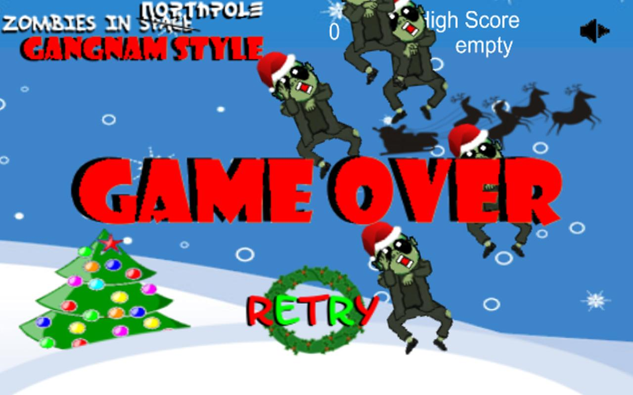 Zombies in. XMAS Gangnam Style - screenshot