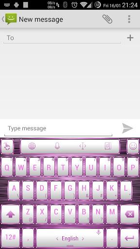 Theme TouchPal Frame W Pink
