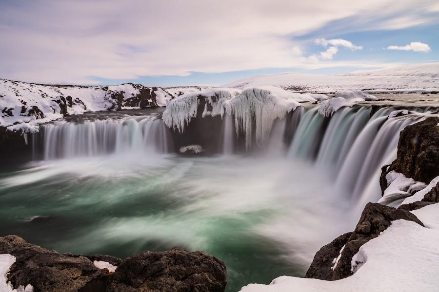 Goðafoss-11 by Palmi Vilhjalmsson - Landscapes Waterscapes ( fosshóll, iceland, goðafoss, skjálfandafljót, north east iceland, gods, ne iceland, bárðardalur )