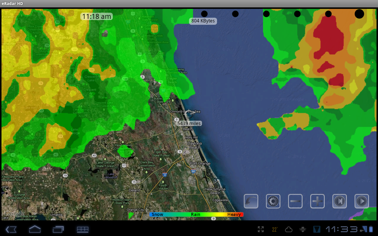 eRadar HD - NOAA Hi-Def radar- screenshot