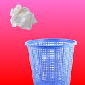 A Paper Ball Throw Into Bin icon