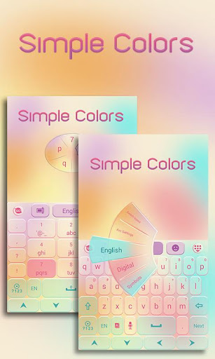 Simple Colors Keyboard Theme