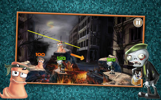 Игра Червячки против Зомби для планшетов на Android