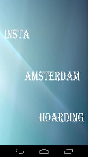 Insta Amsterdam Hoarding