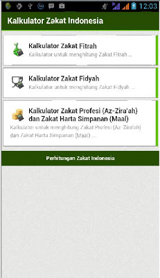 Kalkulator Zakat Indonesia - screenshot