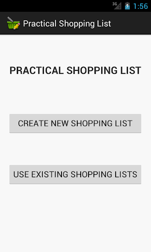 Practical Shopping List