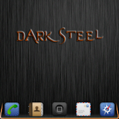 DarkSteel Orange Lite Go Theme