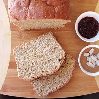 Homemade 100% Whole Grain Bread.