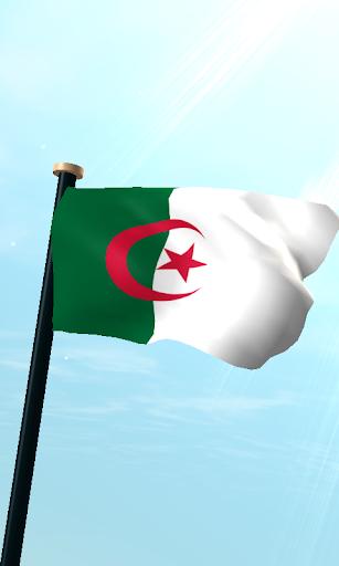 阿尔及利亚旗3D免费动态壁纸