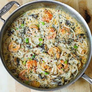 Garlic Shrimp Mushroom Pasta Recipes.