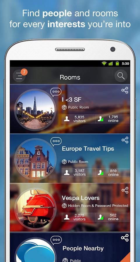 Mingle social& live chat rooms - screenshot