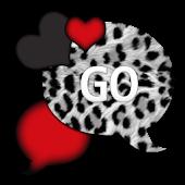 GO SMS THEME/LoveRedLeopard