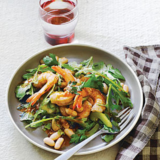 Shrimp and White Bean Salad with Harissa Dressing
