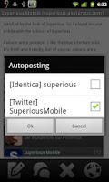 Screenshot of Superious (Posterous Spaces)