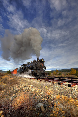 Chuggin' thru Gold Country by Tom Reiman - Transportation Trains ( oregon, locomotive, train, usa, steam,  )