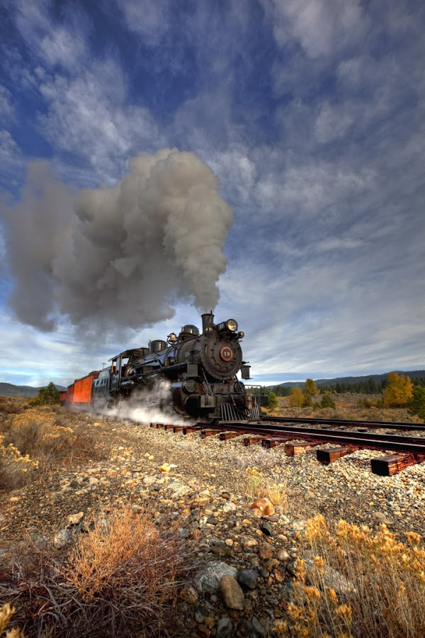 Chuggin' thru Gold Country by Tom Reiman - Transportation Trains ( oregon, locomotive, train, usa, steam,  )