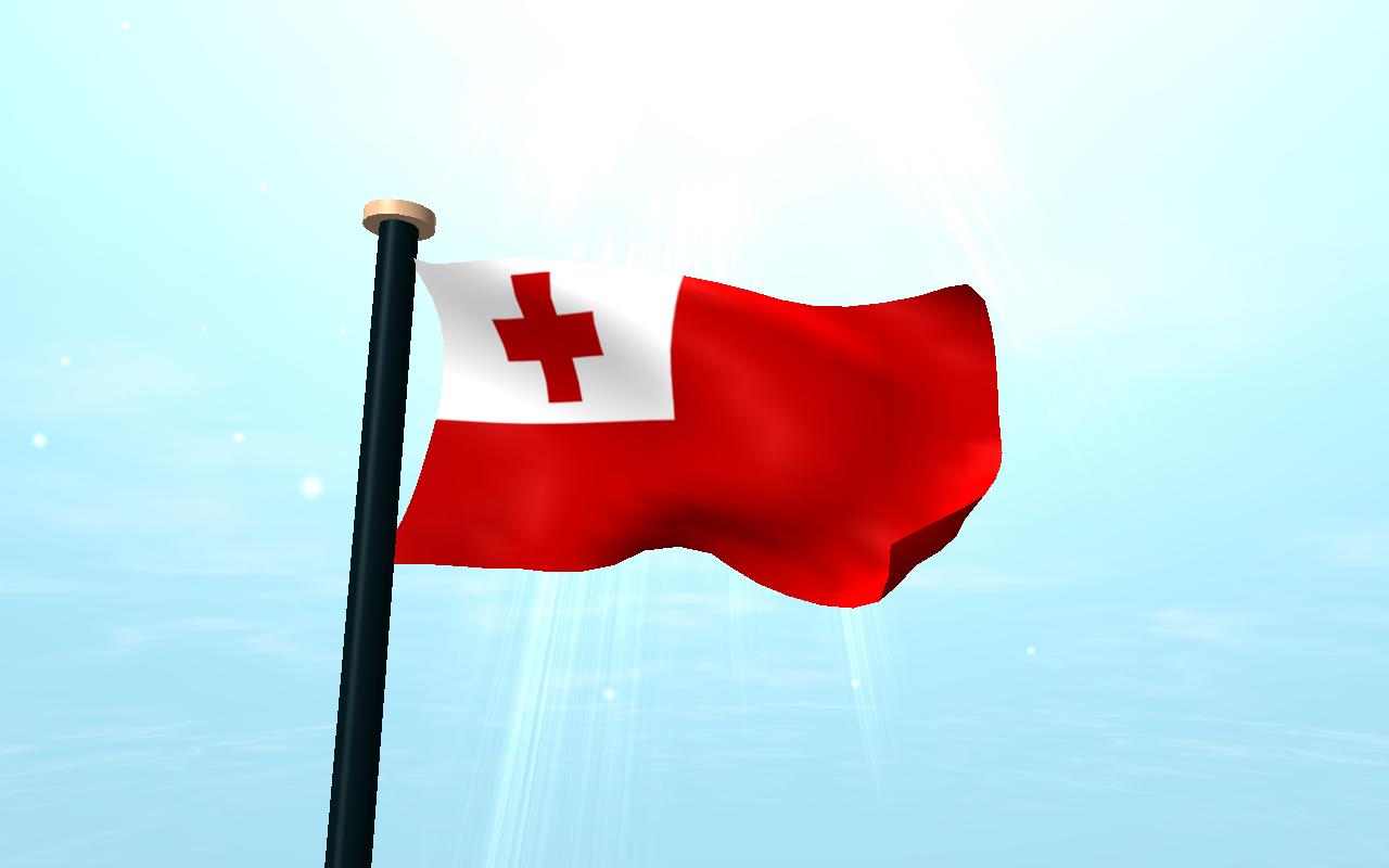 Tonga Flag 3D Free Wallpaper Screenshot
